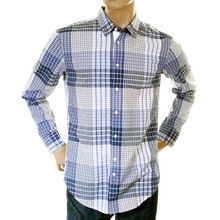 Hugo Boss Orange Label mens blue check 50215618 ClffE shirt BOSS0796