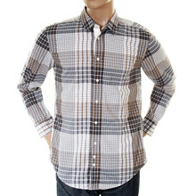 Hugo Boss Orange Label mens sand check 50215618 ClffE shirt BOSS0795