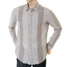 Hugo Boss Orange Label mens putty check 50205778 Clff shirt BOSS2602
