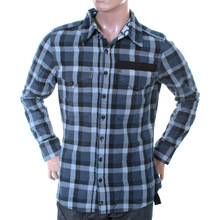 Vivienne Westwood Anglomania mens LV13GBUN blue check military shirt VWST2687