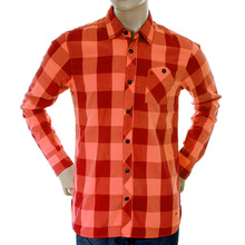 Scotch & Soda mens orange and crimson 1204 08 20011 big check shirt SCOT1734