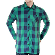 Scotch & Soda mens green and blue 1204 08 20011 big check shirt SCOT1733