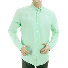 Scotch & Soda mens pastel green 1201 00 20006 faded oxford shirt SCOT0394