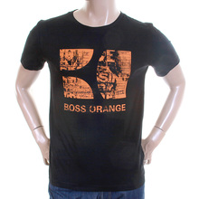 Hugo Boss Orange Label mens black Twisp 1 50233006 printed t shirt BOSS2812