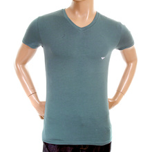Emporio Armani mens blue V neck 110810 3P718 t shirt EAM1574