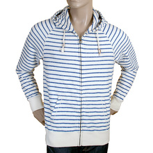 Scotch & Soda mens ecru and blue striped 1301 03 40015 sweatshirt SCOT1813