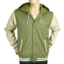 Carhartt mens green and stone 1009732 hooded Robson jacket CARH1367