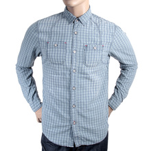 Scotch & Soda mens blue check 1306 06 20317 long sleeve casual shirt SCOT2187