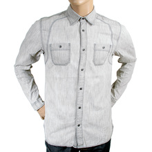 Scotch & Soda mens light grey 1306 06 20308 long sleeve casual shirt SCOT2159