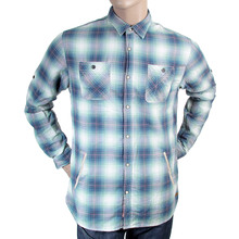 Scotch & Soda mens blue and green check 1301 01 20044 long sleeve shirt SCOT1791