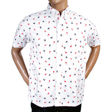 Sun Surf mens off white printed shirt SURF3813