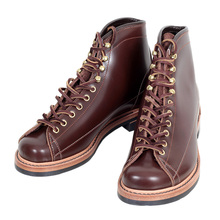 Lone Wolf Mens Brown Leather LW01785 Calf High Goodyear Welted Lace Up Wireman Work Boots CANE4451