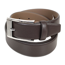 Hugo Boss mens Ellot S 50248643 brown leather belt BOSS4405
