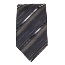 Hugo Boss mens black and brown striped 50274809 silk tie BOSS4333
