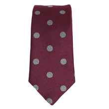 Hugo Boss mens burgundy spotted 50275023 silk tie BOSS4331