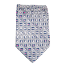 Hugo Boss mens grey patterned 50267532 silk tie BOSS0569