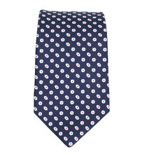 Hugo Boss mens navy spotted 50275519 silk tie BOSS4335
