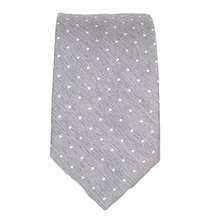 Hugo Boss mens grey pin dot 50262537 silk tie BOSS1777