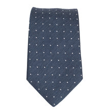 Hugo Boss mens blue pin dot 50274795 silk tie BOSS4334