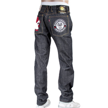 RMC X Yoropiko mens embroidered 12th Anniverasry denim jeans REDM4128