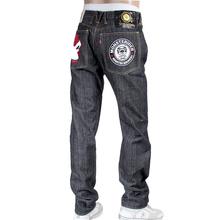 RMC X Yoropiko Indigo Cotton Japanese Raw Selvedge Embroidered Denim Jeans REDM4128