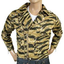 RMC mens camo pattern biker jacket REDM4131