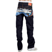 RMC Jeans Dark Indigo Limited Production Toyo Story Fisherman Embroidered Raw Vintage Selvedge Jeans REDM9072