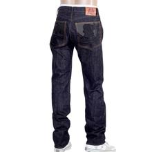 RMC Martin Ksohoh 1011 Slim Indigo Black Bushi Embroidered Raw Selvedge Jeans for Men RMC2755