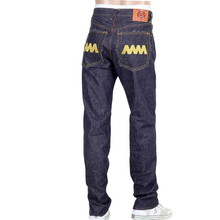 RMC Jeans Mens 4A V1 Japanese Selvedge Slim Indigo Raw Denim jeans With Gold 4A Embroidered Back Pockets RMC1919