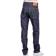 RMC Jeans Mens Japanese Selvedge 4A V1 Slim Indigo Raw Denim Jeans with Black 4A Embroidered Back Pockets RMC1921