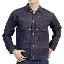 Sugarcane Raw Denim SC12240N Vintage Cut Larger Fit 1930s Work Jacket for Men CANE2987