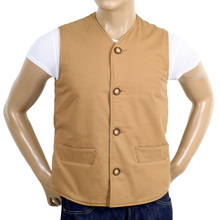 RMC x MKWS Mens Regular Fit Lightly Padded Biscuit Cotton Vintage Cut Waistcoat RMC1950