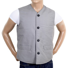 RMC x MKWS Mens Vintage Cut Regular Fit Cotton Waistcoat in Light Blue RMC1951