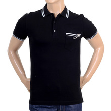 Versus Mens black piquet polo by Versace VERS3412