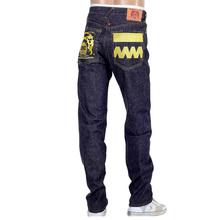 RMC Gold Embroidered 4A FM Union Version 2 Indigo Raw Model 1001 Slim Selvedge Mens Denim Jeans RMC1923
