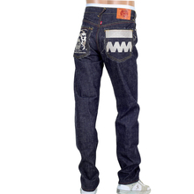 RMC FM Union Indigo Slim 1001 Model Raw Denim Jeans with 4A Embroidered on Back Pockets RMC1924