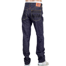 RMC Jeans Raw Indigo 1001 Model Black Embroidered 4A FM Union Mens Selvedge Denim Jeans RMC2190
