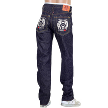 RMC Jeans Mens Japanese 1001 Model Selvedge Denim Jeans with Silver 4A Band Embroidered RMC1930