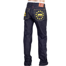 RMC Indigo Raw Selvedge 1001 Slim Cut Gold Embroidered 4A FM Union Jeans by Martin Ksohoh RMC1933