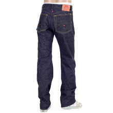 RMC 4A FM Union Embroidered Indigo Raw Selvedge 1001 Slim Cut Denim Mens Jeans RMC1937