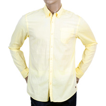 Scotch & Soda mens yellow regular fit shirt SCOT3664