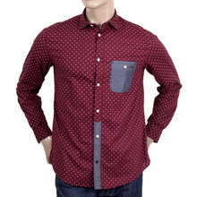 Mens Armani shirt in bordeaux with logo AJM4005