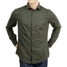 Armani Jeans Slim fit green shirt AJM2453