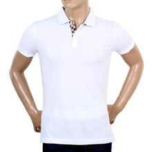Aquascutum White Polo with Club Check AQUA4839