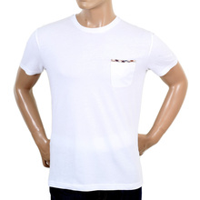 Aquascutum White Brady Short Sleeve T-Shirt AQUA4826