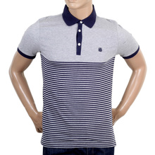 Aquascutum Striped Navy Polo Shirt AQUA4840
