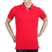 Aquascutum Cotton Polo Shirt in Red AQUA4835
