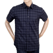 Navy Short Sleeve Shirt by Aquascutum AQUA4431