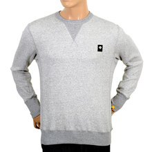 Grey Cotton Crew Neck Sweatshirt by Descente DESC3649