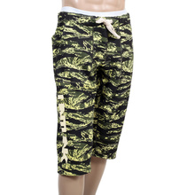 RMC RQR14033 MKWS Green Tiger Camo Pattern Sport Cotton Jersey Shorts For Men REDM4413